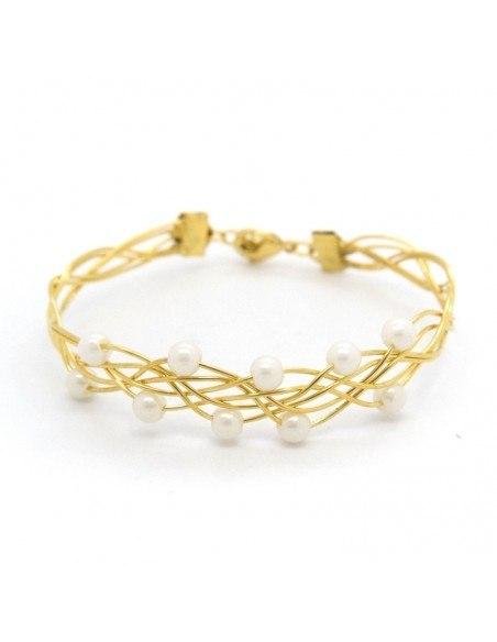 Armband vergoldet mit Perlen SIOP