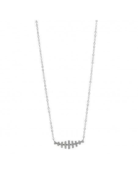 Silberkette mit Zirkonia Steinen MINIO