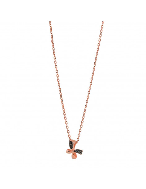 Silberkette mit Kreuz rosegold PAVLE