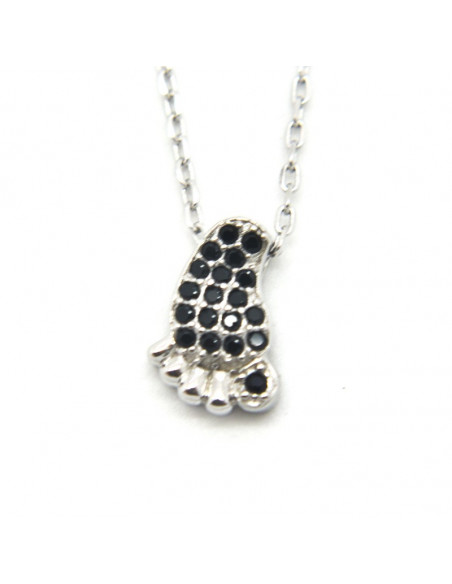 Silver Necklace Baby foot