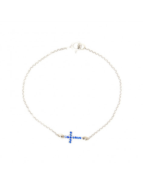 Silver bracelet with cross STAYRO