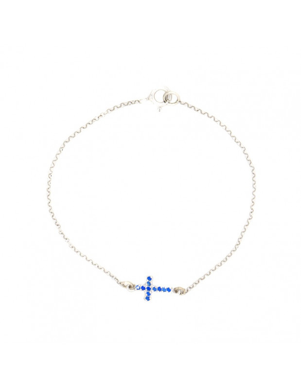 Silver bracelet with cross STAYRO