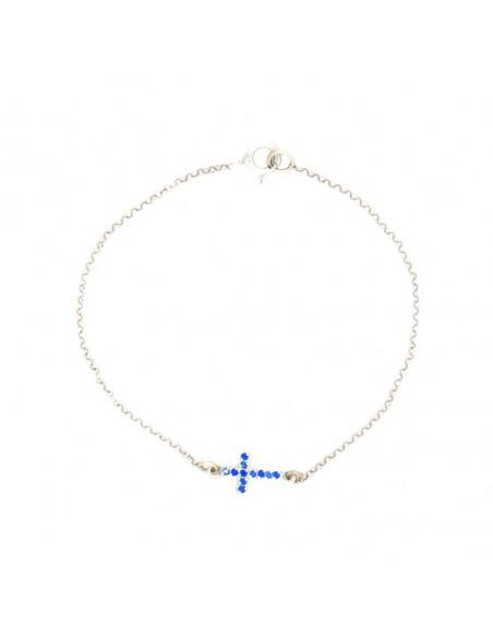 Silberarmband mit Kreuz STAYRO