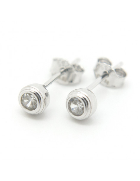 Stud silver earrings PIN