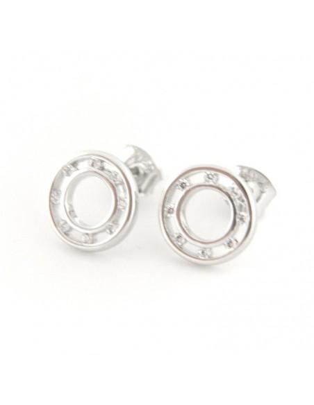 Stud silver earrings LUNIK