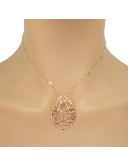 Necklace from rose gold plated silver 925 PINS