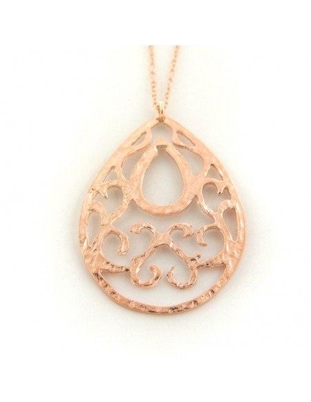 Halskette aus rosévergoldetem Silber 925 PINS