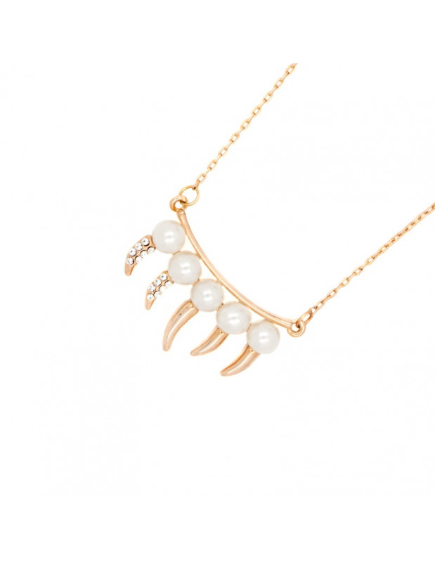 Necklace with pearls rose gold DONTI