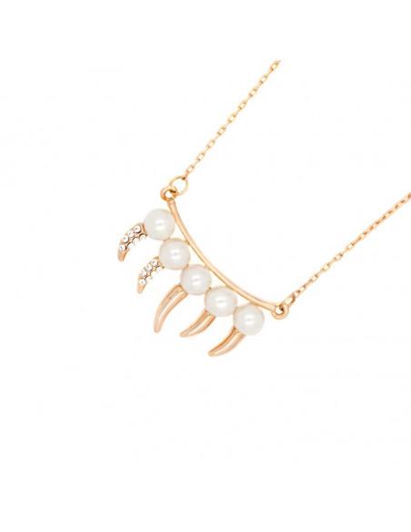 Halskette mit Perlen rosegold DONTI