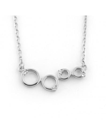 Silberkette mit Zirkonia Steinen RINGE
