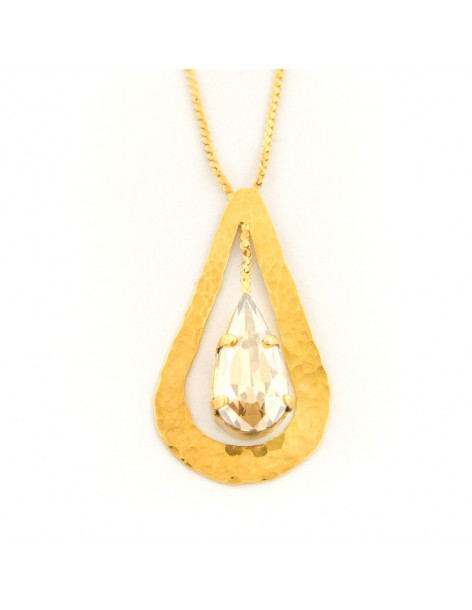 Necklace with gold plated bronze pendant HEW