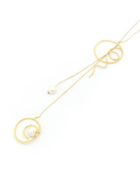 Lange Halskette mit Perlen gold OUNT