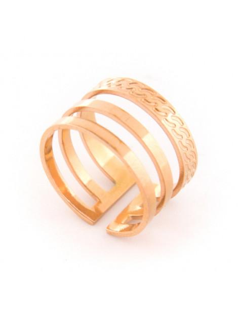 Ring minimal of stainless steel rose gold LORO