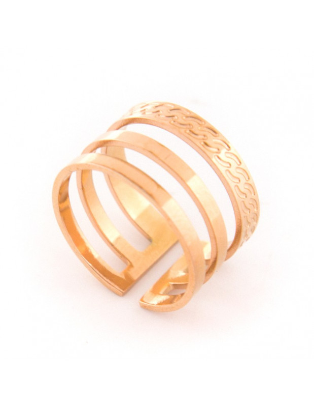 Ring minimal from rose gold plated stainless steel LORO