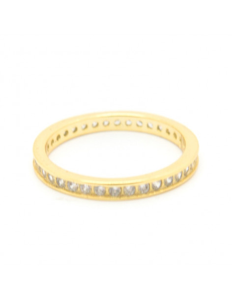 Ring of sterling silver with crystals gold BAO