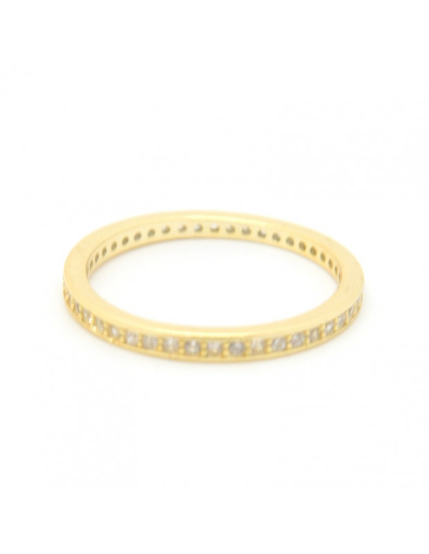 Ring of 925 sterling silver with crystals gold BAB