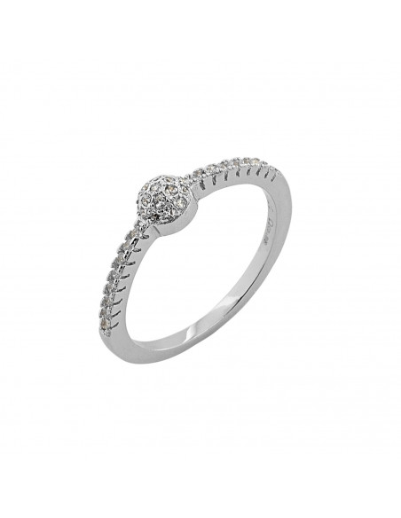 Solitaire Ring of sterling silver with crystal HADI 3