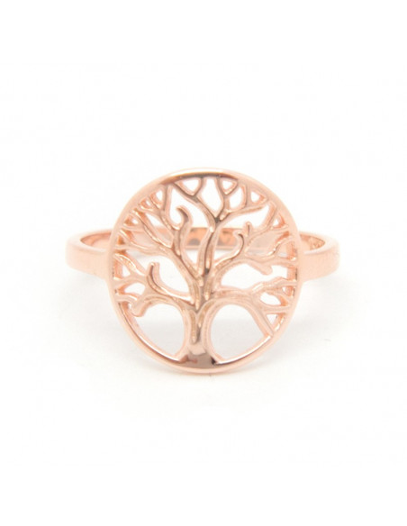 Ring of 925 sterling silver handmade rose gold LIFE TREE 3