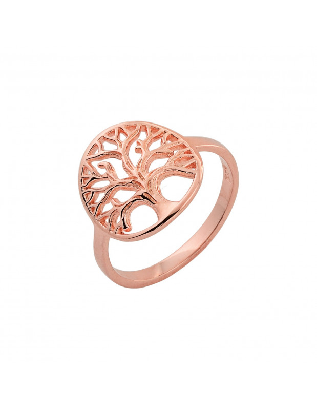 Ring of 925 sterling silver handmade rose gold LIFE TREE