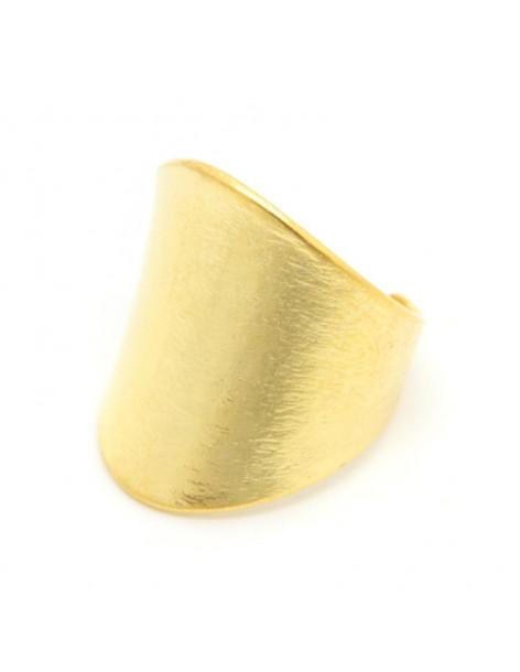 Δαχτυλίδι ασημένιο χειροποίητο χρυσό HAITI