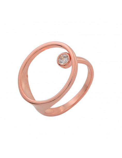 Silberring mit Swarovski® Elements rosegold KENT 3