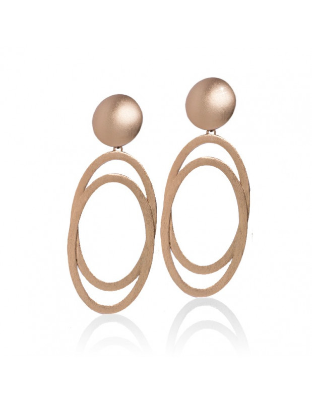 Large earrings from rose gold plated...