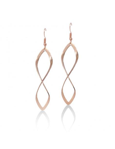 Lange Ohrringe aus Bronze rosegold FIDES