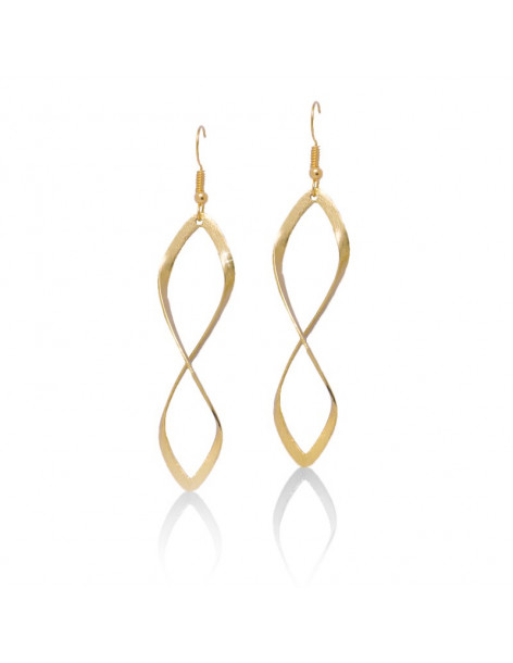 Long earrings Infinity gold plated FIDES