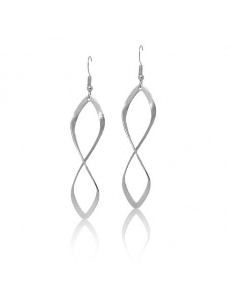 Earrings of bronze silver FIDES