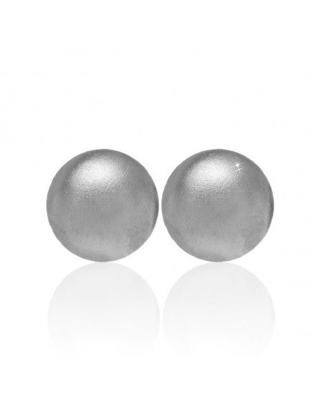 "Stud earrings ""Button"" of silver plated bronze"