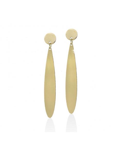 Long earrings of bronze gold TERW