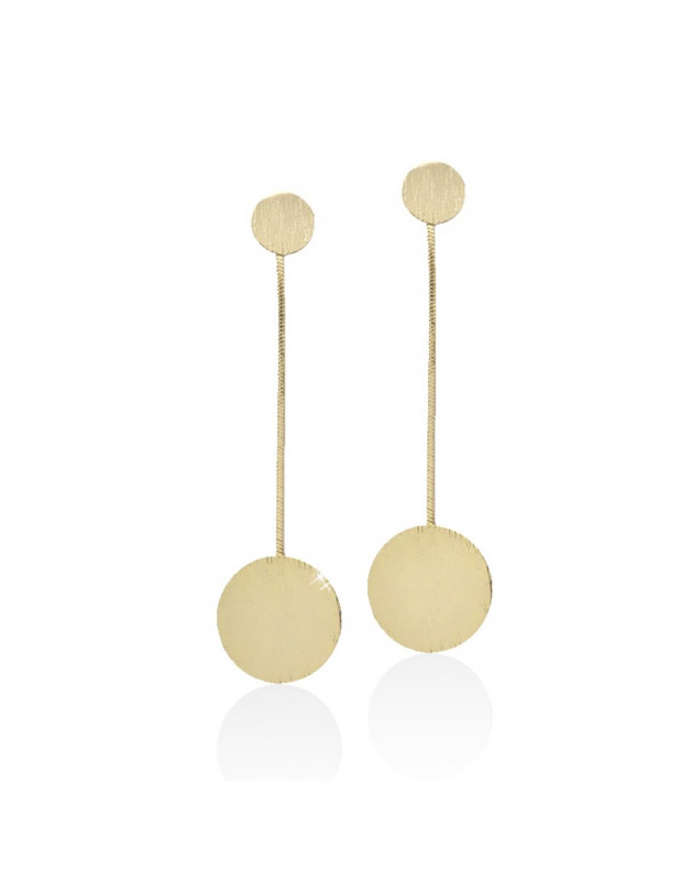 Long earrings from gold plated bronze BIOS
