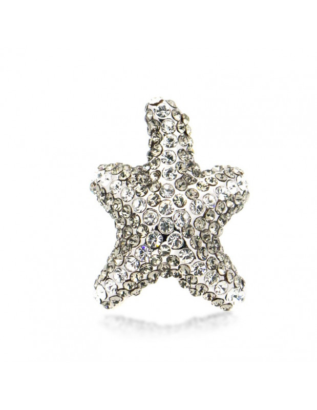 "RING ""SEASTAR"" WEISSGOLD VERGOLDET MIT SWAROVSKI ELEMENTS STEINEN"