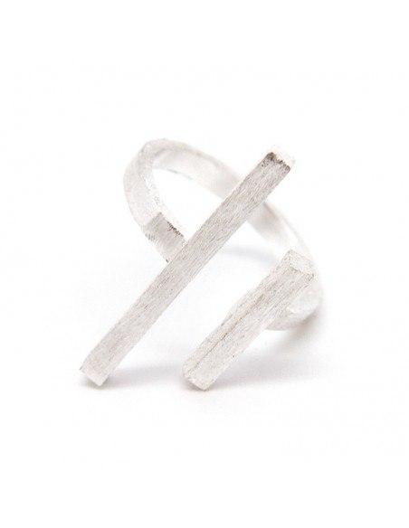 Minimal ring silver GEOMETRIK