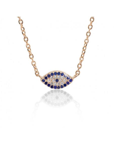 Nazar Halskette Silber 925 rose gold SIO