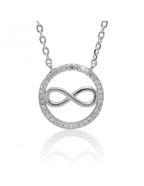 """Necklace sterling silver """"INFINITY"""" ZEO"""