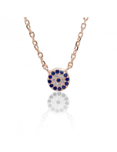 Nazar Necklace sterling silver 925 rose gold PIN