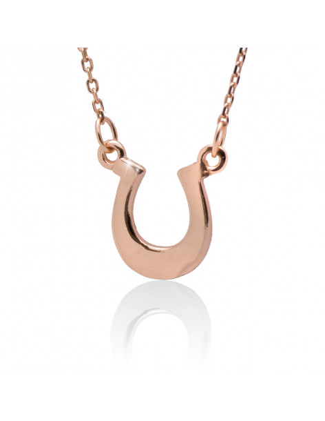 "Necklace sterling silver ""HORSESHOE"" rose gold plated"