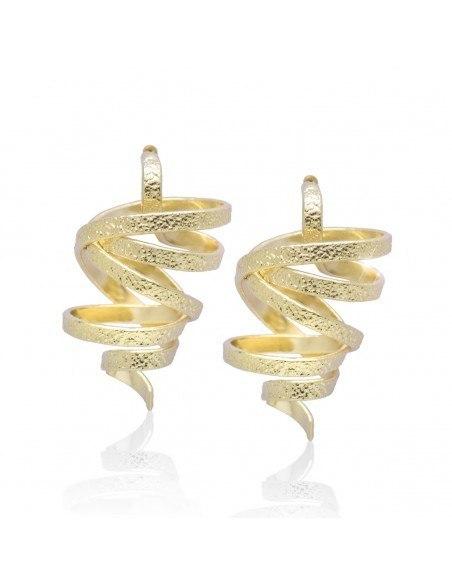 Σκουλαρίκια χειροποίητα χρυσό FLEVO