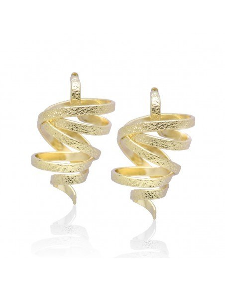 Earrings handmade gold FLEVO
