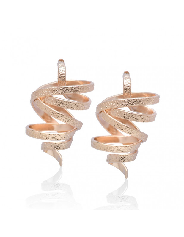 Earrings handmade rose gold FLEVO