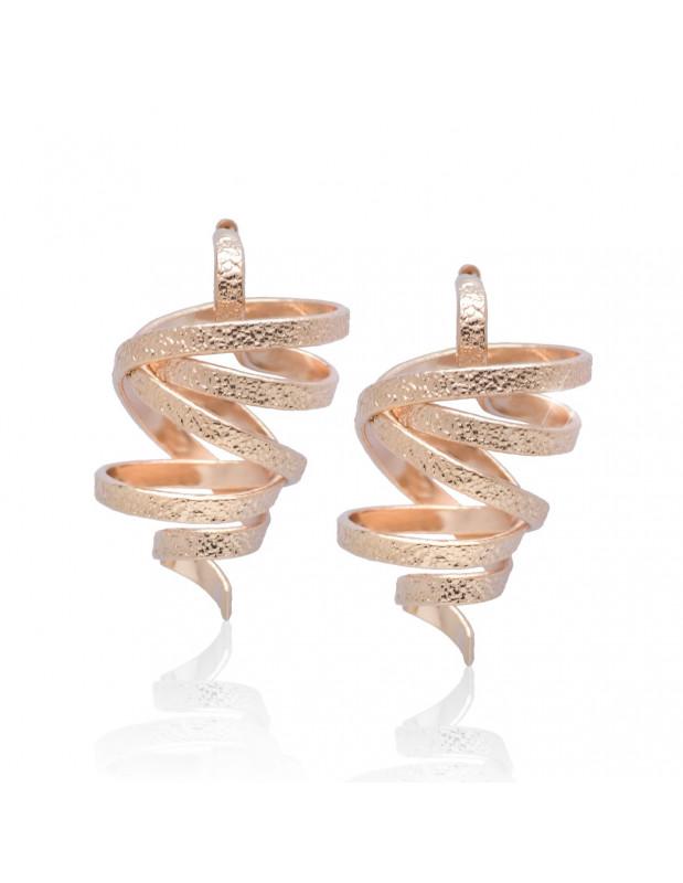 Ohrringe handgefertigt rosegold FLEVO