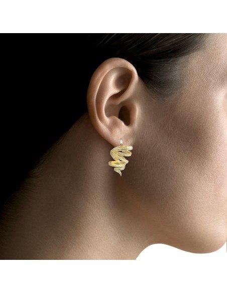Earrings handmade gold FLEVO 2