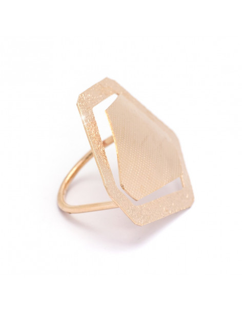 Handmade ring from rose gold plated bronze OHED