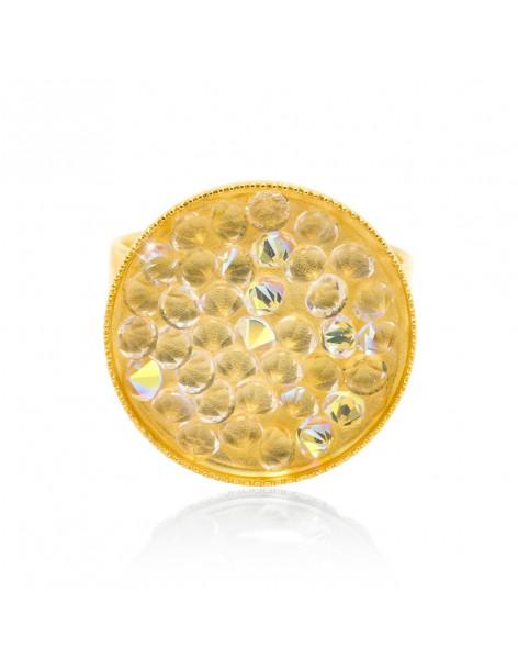 Δαχτυλίδι με ζιργκόν από επίχρυσο μπρούτζο BLIT