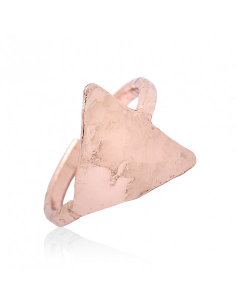 Chevalier ring for little finger from rose gold plated bronze HANI