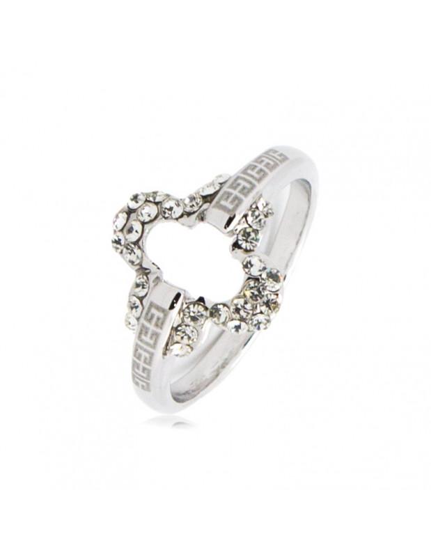 Δαχτυλίδι λευκόχρυσο επίχρυσο AZA