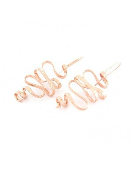 Σκουλαρίκια από rose gold μπρούτζο HEID