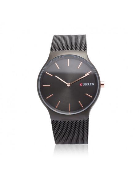 Μαύρο ρολόι Curren με μαύρο μπρασελέ mesh από ατσάλι
