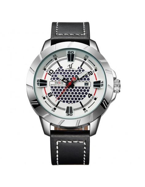 Ρολόι ανδρικό WEIDE 10492 με μαύρο δερμάτινο λουράκι
